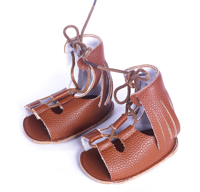 2018 New fashion spring tassel brown summer baby sandals moccasins boys shoes soft sole pu leather child girls gladiator sandals