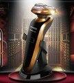 O ENVIO GRATUITO de homens marca RQ1250 barbeador elétrico de barbear barbeador elétrico 4D o Barbeador Elétrico de barbear lavável cuidados faciais originais