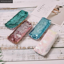 New Pencil Case Color Reversible Sequin School Supplies Bts Stationery Gift Cute Pencil Box Pencilcase School Tools Pencil Cases
