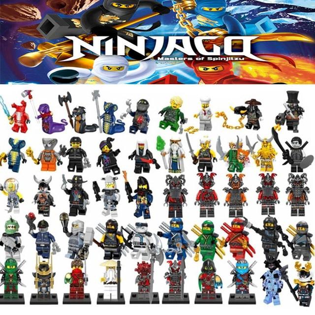 Ninja Legoing Ninjagoes Figuras Cobras Rattla Pythor Garmadon Bytar Rattla Samukai com Blocos de Construção Arma Brinquedos Amigos