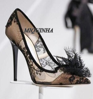 sexy fashion black lace pointed toe pumps super thin high heel party dress shoes hot selling nightclub footwear kwang w jeon international review of cell and molecular biology 278