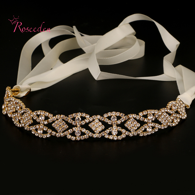 fashion bridal wedding headband Wedding party romantic crystal rhinestone hairband bride high quality hair accessories RE683
