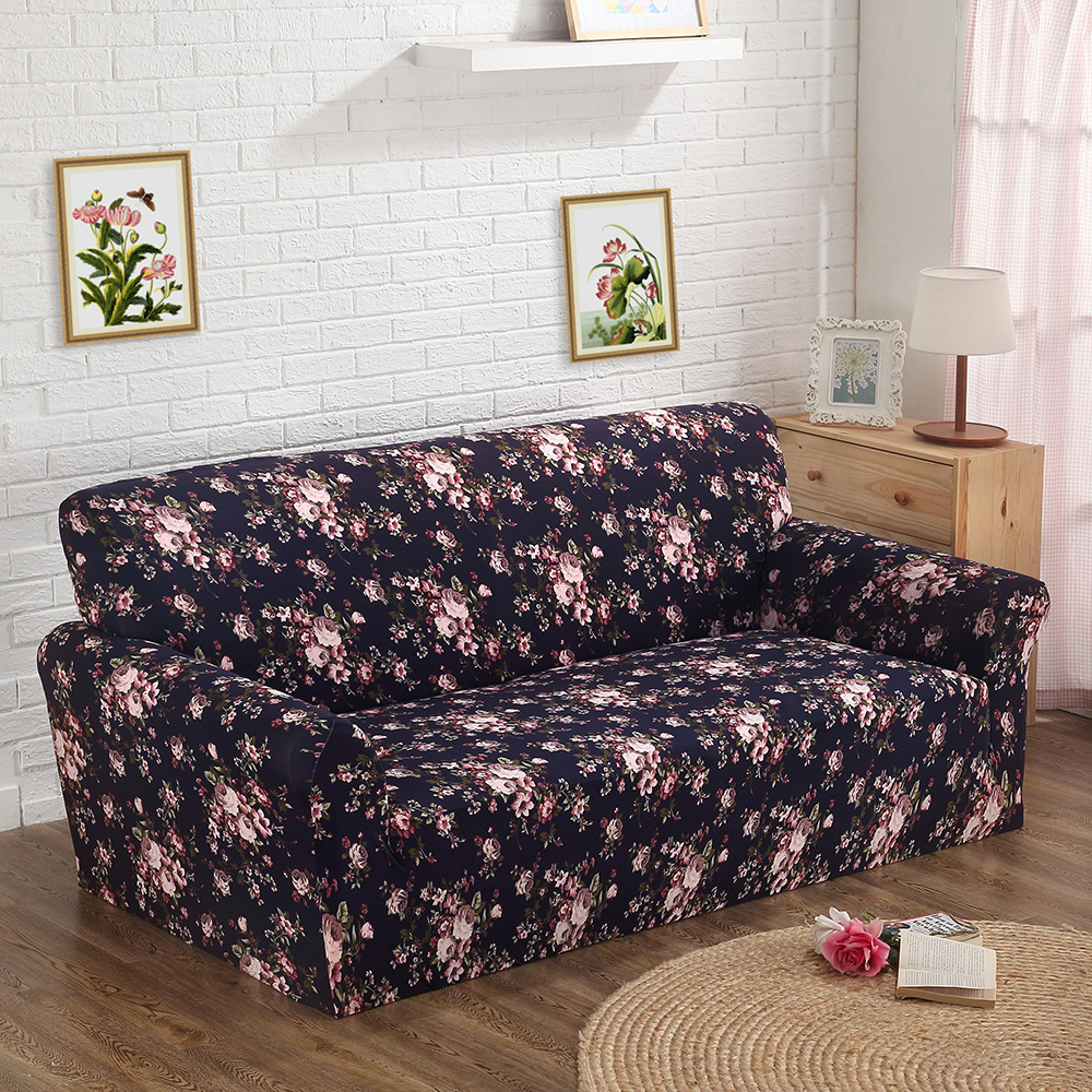 Printed Color New Spandex Stretch Couch Cover Sofa Cover