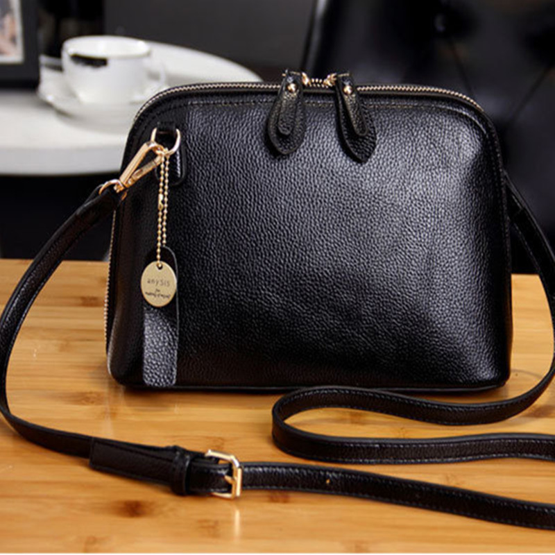 New 2018 CHISPAULO Brand Messenger Bag, Free Shipping Small Shell Bag, Women Leather Shoulder Bag yuanyu 2018 new hot free shipping import crocodile women chain bag fashion leather single shoulder bag small dinner packages