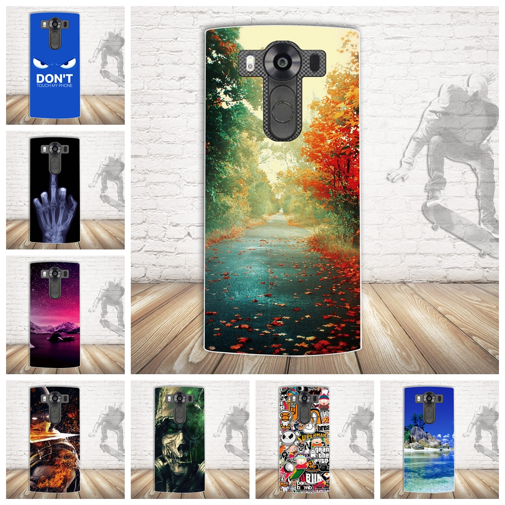 Galleria fotografica Soft Silicone TPU Back Cover For Coque LG V10 Case 3D Cute Luxury Capa For LG H968 Phone Cases Ultra Thin For LG V10 H968 Bags