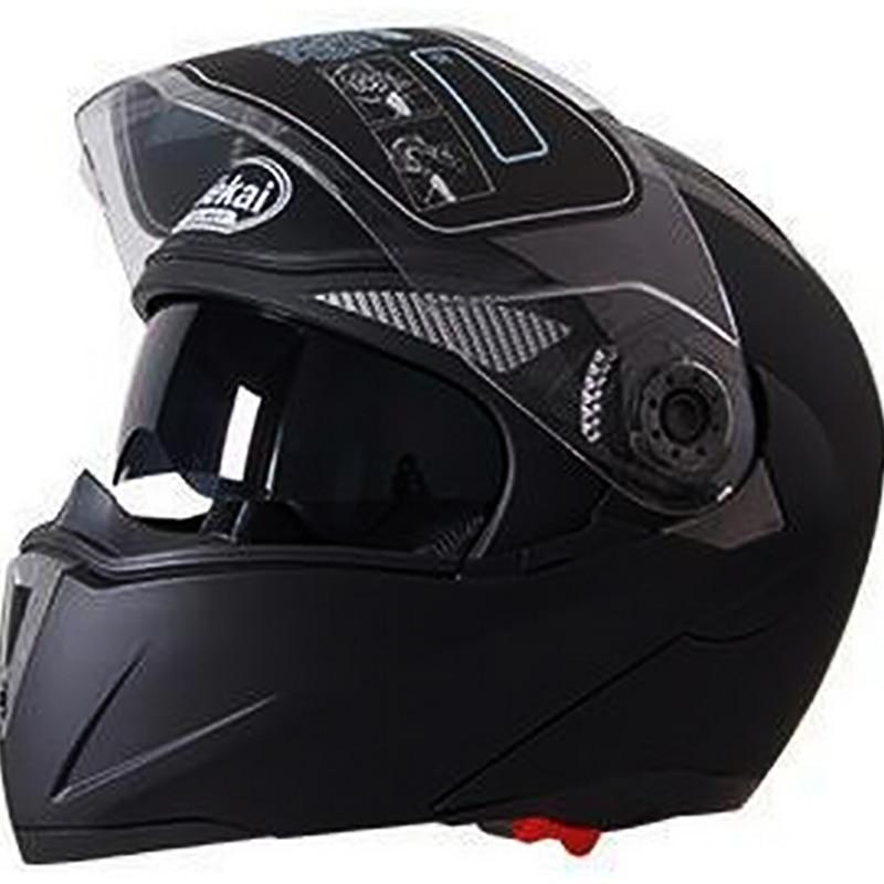 Casque de sécurité moto rcycle Flip Up casque de moto moto rbike avec pare-soleil intérieur casque JIEKAI-105 DOT ECE