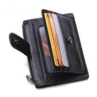 CONTACT S Super Slim Genuine Leather Men Wallet Card Holder Minimalist Mini Wallets Purse Organizer Card