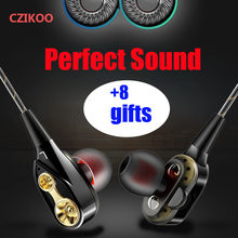 Dual Drive Stereo Earphone In-ear Headset Earbuds Bass Earphones For IPhone Samsung xiaomi 3.5mm Sport Gaming Headset With Mic(China)