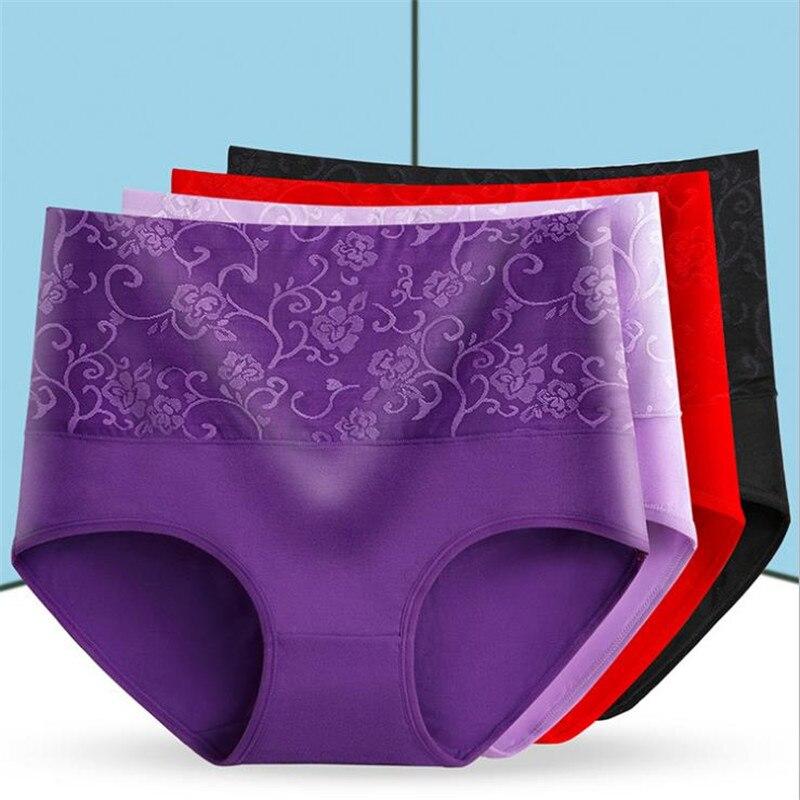 #625 LeafMeiry Highwaist Women Panties Plus Size L-XXXL Sexy Women Underwear Cotton Briefs