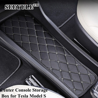 1pc SEEYULE Car Center Console Storage Box Cushion Decoration Pad Mat for Tesla Model S Organizer car styling Accessories