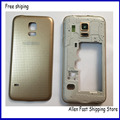 Original For Samsung Galaxy S5 Mini G800 G800F Housing Middle Bezel +Battery Door Back Cover Case+Camera Glass +Logo
