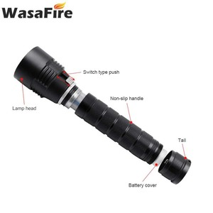 Image 4 - Wasafire 10000 Lumens צלילה לפיד מקצועי עוצמה led עמיד למים לצלילה פנס צולל אור LED מתחת למים פנס