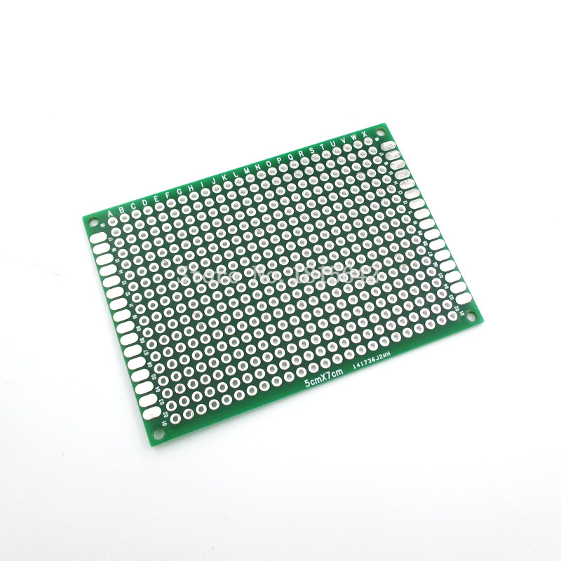 5PCS/Lot 5*7CM Universal Board Breadboard Dual Side Tin Experimental Board Green Oil Fiberglass Board Double-Sided PCB