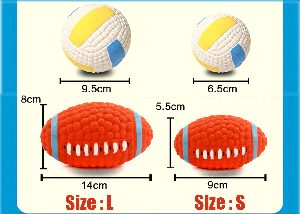 Adidog Dog Pet Rubber Pinball Balls Toy For Small Dogs Interactive Volleyball Puppys Chew Play Toys Cachorro Pet Supplies 105