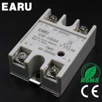 SSR 100AA Single Phase Solid State Relay 100A AC Control AC 220V Solid State Relay