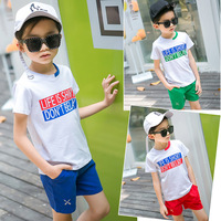 2 Pieces Summer Suits For Handsome Boys Clothes Brand Boy Baby Clothing Tshirts Pants Set For