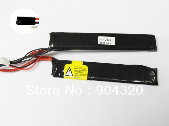 5 PCS / LOT  Twins 11.1V 1300Mah Li-Po Akku Battery Tamiya for Gun AK M4 G3 M16 20C