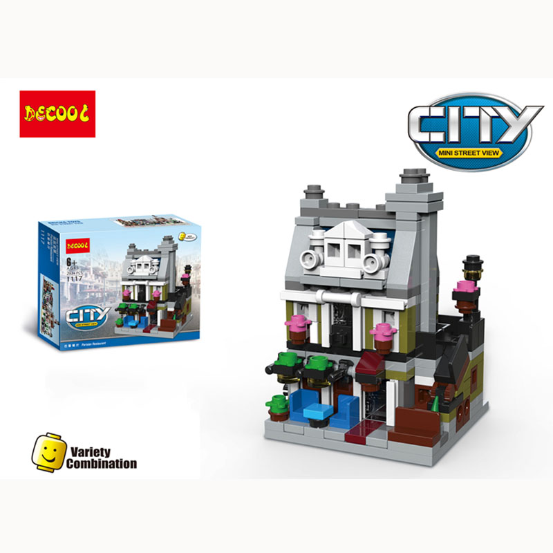 Street View Cinema Detective Office Restaurant Town Hall Bank Compatible legoeINGlys City Model Building Blocks set kidsgift toy