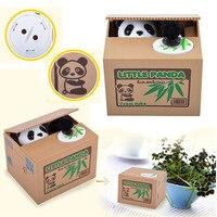 Lustige Spielzeug Weiße Katze Panda Automatische Stehlen Münze Katze Kitty Münzen Penny Cents Piggy Bank Geld Sparen Kid Weihnachtsgeschenk