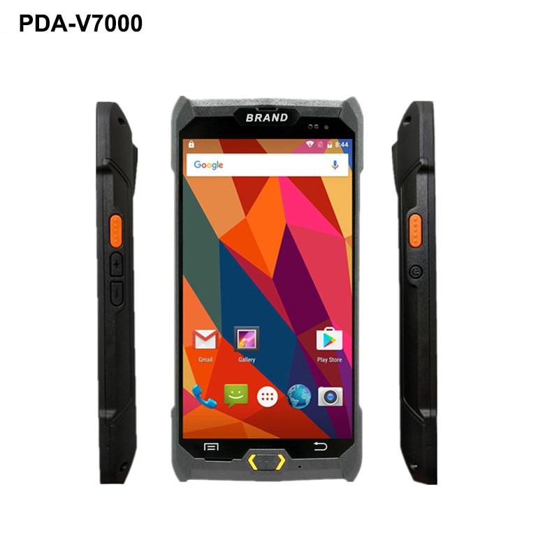 grande tela de toque pda 4g handheld pos terminal 1d 2d scanner de dados leitor de