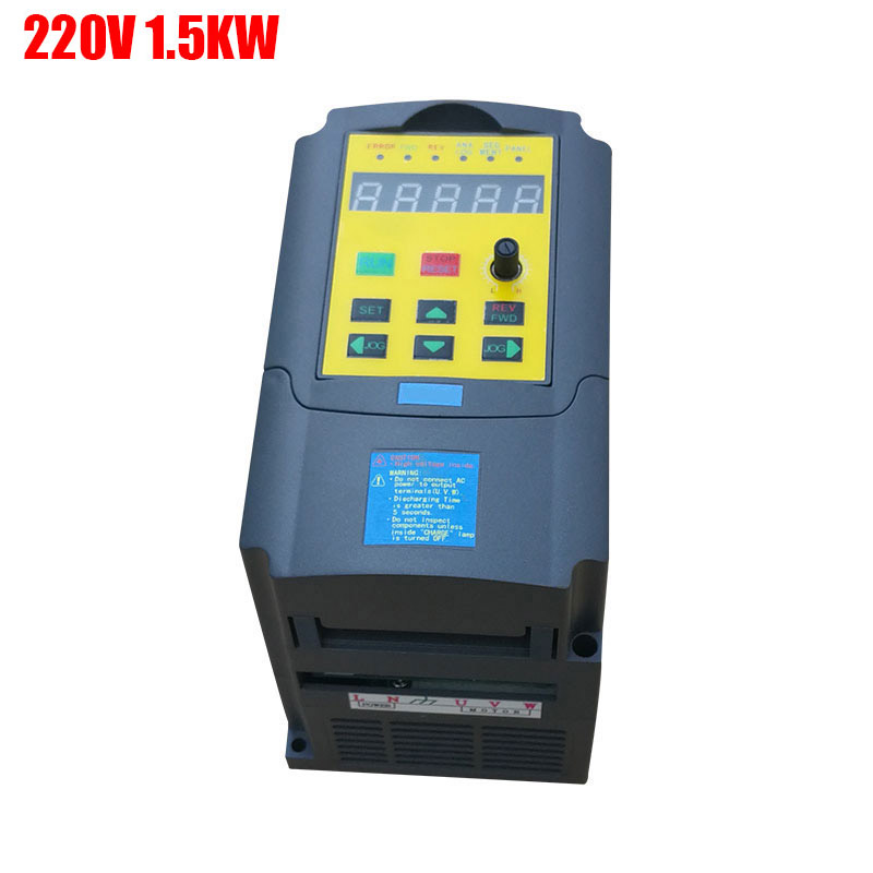frequency converter single phase input and CE 1.5KW 220V 220v 3 phase output mini frequency inverter ac motor drive pump frequency inverter 5 5kw 220v single phase input 220v three phase output 5 5kw frequency converter