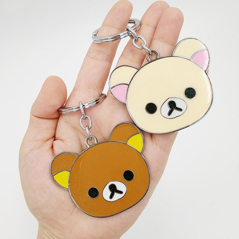 Rilakkuma bear white  Key Met Protective Cover key chain anime cute