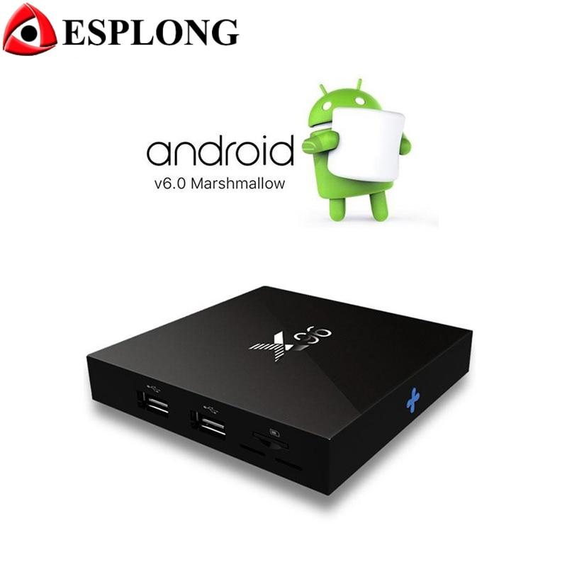 X96 4K Smart Android 6.0 TV BOX Amlogic S905X Quad Core H.265 Media Player KODI Mini PC 2GB 16GB Wifi Miracast Airplay IPTV Box android tv box w9 2gb 16gb android 5 1 amlogic s905 quad core kodi pre installed wifi aluminum 3d media player