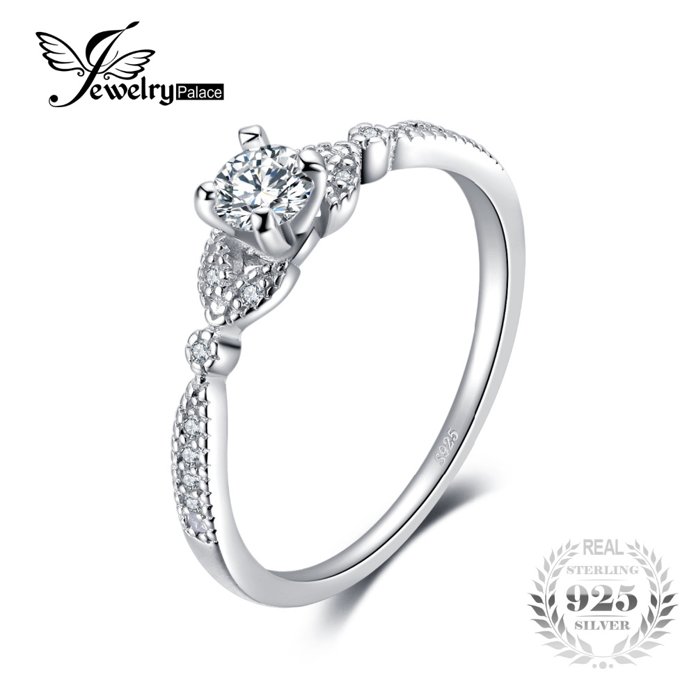 JewelryPalace Wedding 0.35 Cubic Zirconia Engagement