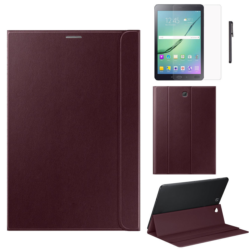 100% Brand High Quality Solid Fashion Leather Case For Samsung Galaxy Tab S2 8 Inch T710 T715 +Film +Pen