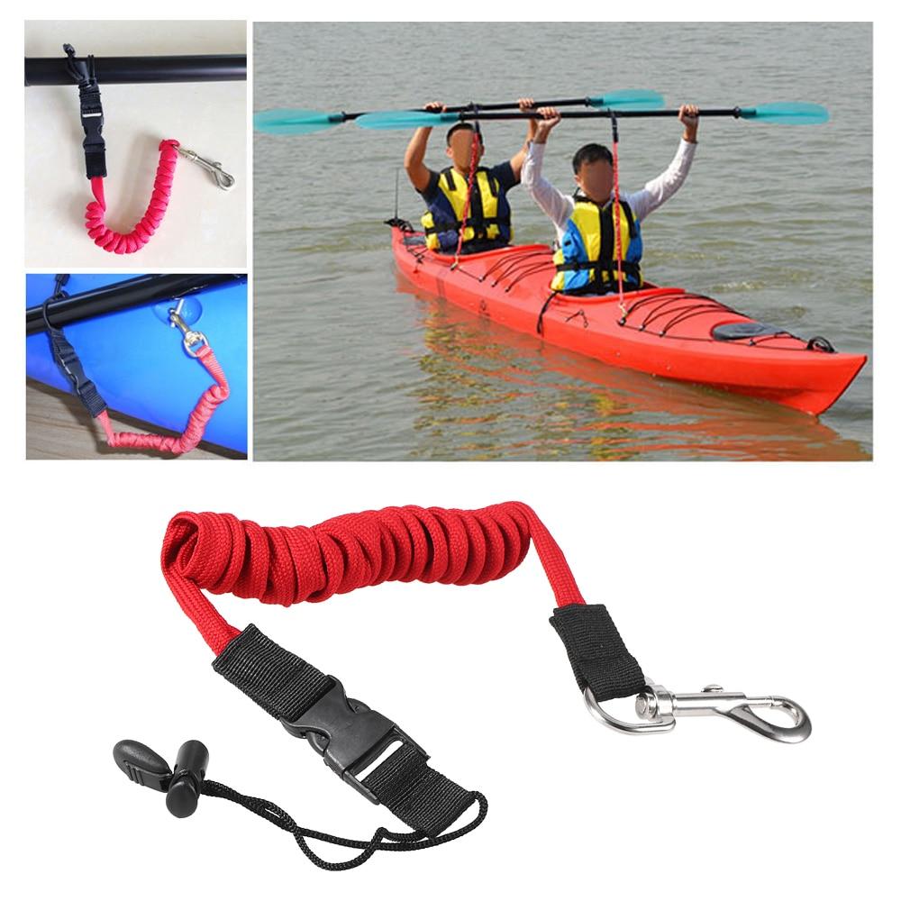 Elastic Safety Paddle Leash for Kayak Canoe Boat Fishing Rod Coiled Lanyard Cord