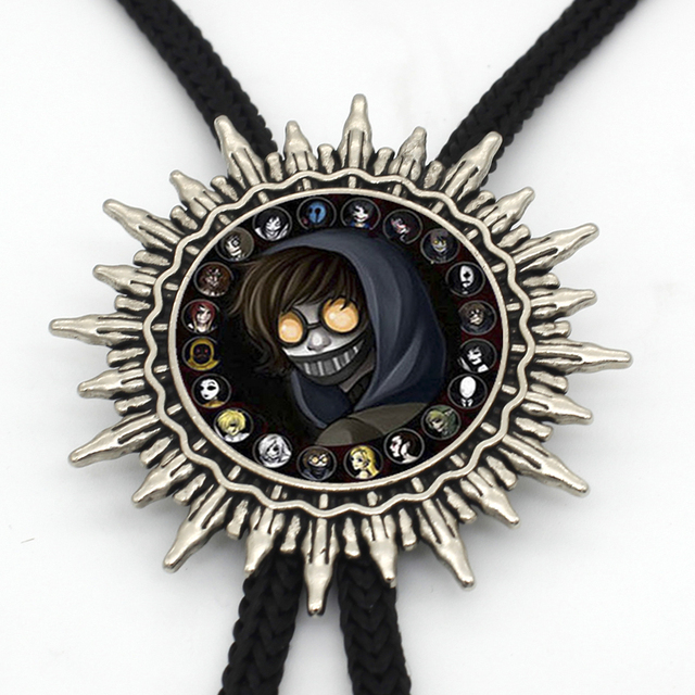 New Arrival Anime Tokyo Ghoul Kaneki Ken Bolo Tie Round Glass Dome Tokyo Ghoul Figures Neck Tie for Women Men