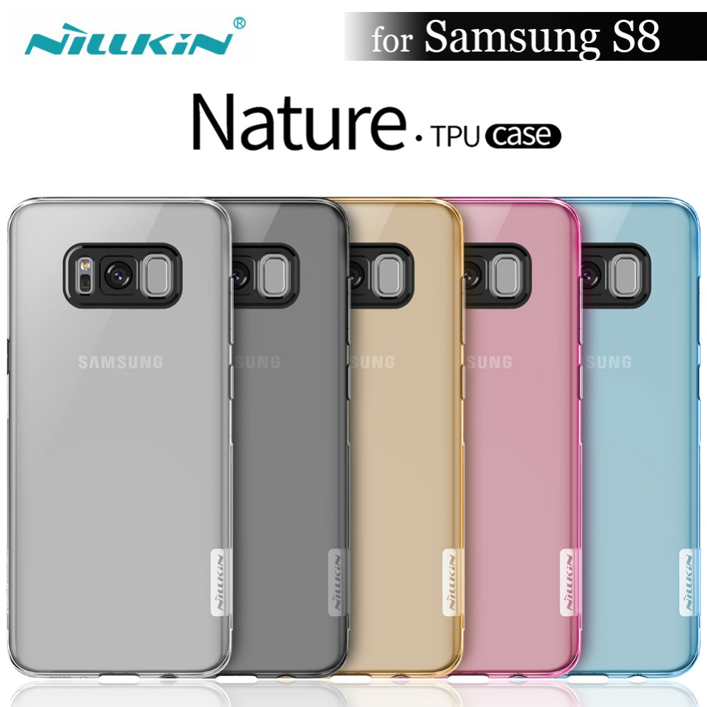 "NILKIN for Samsung S8 Case 5.8"" Nillkin Nature Transparent Clear Soft Silicon Phone TPU Protector Cover for Samsung Galaxy S8"