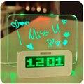 Новый СВЕТОДИОДНЫЙ Доска Объявлений Будильник Многофункциональный Световой Цифровой Регистрации Сообщение Ленивый Будильник Рождество Новый Год Подарок