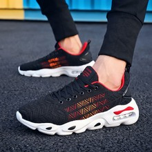Купить с кэшбэком 2019 Running Shoe for Men Adult Athletic Sapatos Masculino Cushioning Outdoor Breathable Mesh Men Shoes Sneakers Sport Gym Shoes
