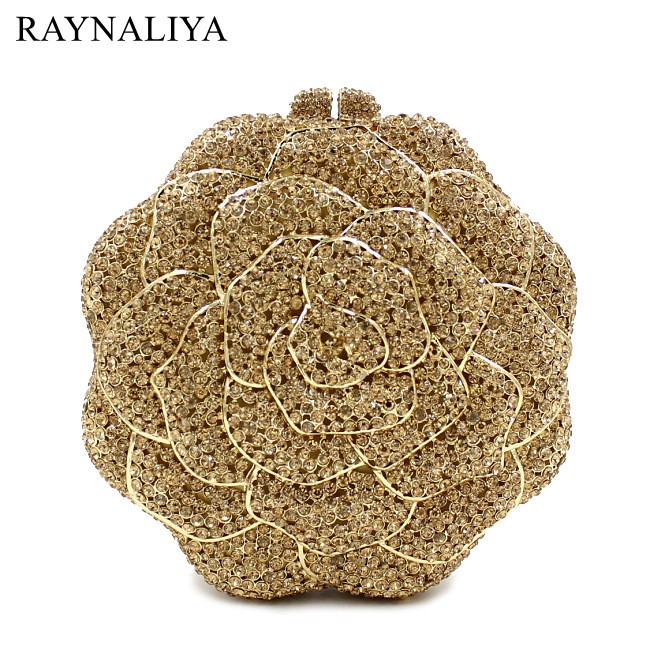 Wedding Handbags Clutch Purse Evening Bag Day Clutches Bags Women Flower Style Handbag Floral Diamonds Bag Smyzh-e0345 gold plating floral flower hollow out dazzling crystal women bag luxury brand clutches diamonds wedding evening clutch purse