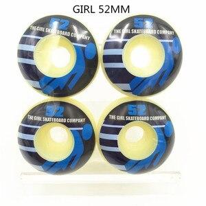 Image 3 - Conjunto de 4 ruedas PRO de EE. UU. De PU de alta densidad, color blanco puro, ruedas de patín de 52mm, ruedas de patín para Kaykay Paten