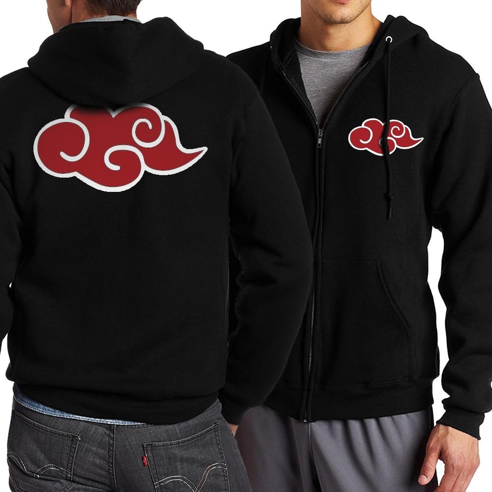 Naruto Uzumaki Cartoon Men Zippered Hooded 2017 Spring Autumn Hot Men Hoodies Jacekt Sweatshirt Slim Fit S-4XL Mens Sportswear