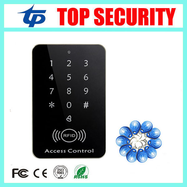Good quality cheap 125KZH RFID card access control reader standalone 1000 users single door access control system card reader surface waterproof metal key access control card reader standalone 8000 users single door 125khz rfid em card access controller