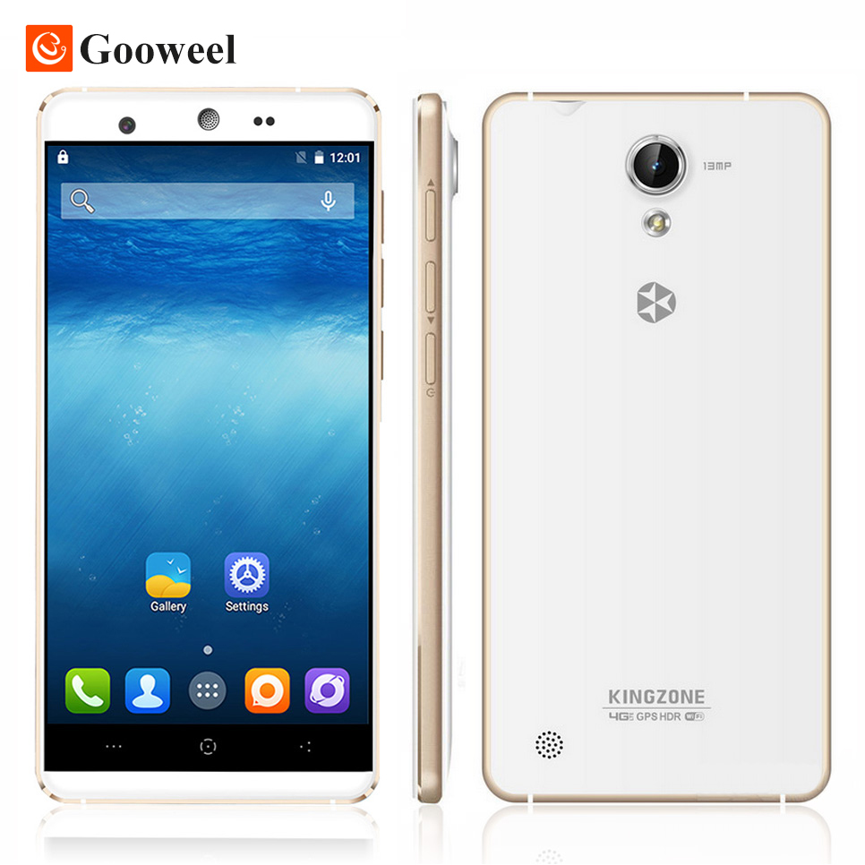 Kingzone N5 5inch 4G font b Smartphone b font LTPS1280x720 Cell phone Android 5 1 MTK6735