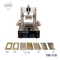 5in1 LCD Opknappen Machine Midden Bezel Separator/Frame Lamineermachine/Vacuüm LCD Separator/Lijm Remover/Voorverwarmer TBK-518
