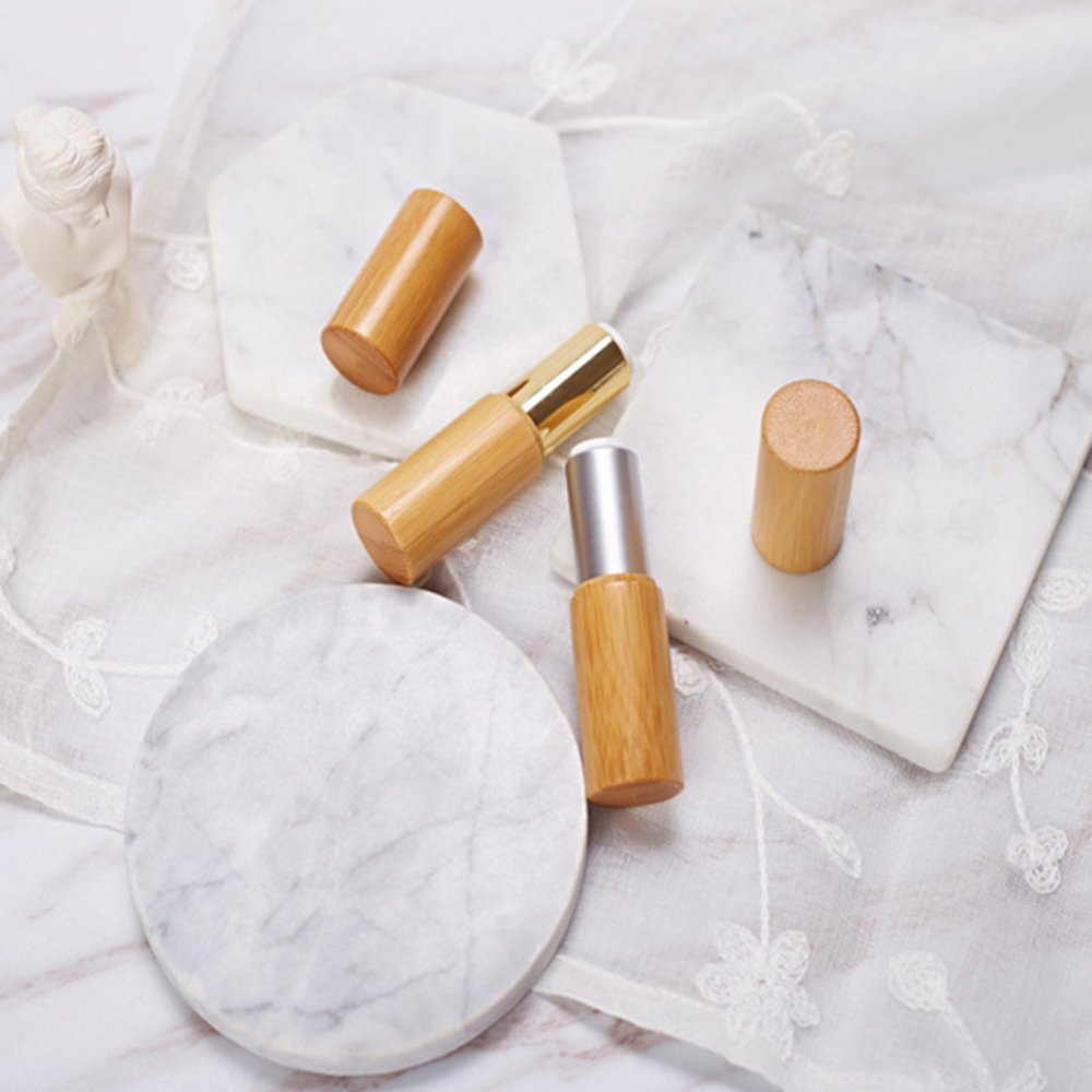 Nature Bamboo Empty Lip Gross Container Lipstick Tube DIY Container Lip Balm Tubes Creative Wood Lipstick Replacement Tubes