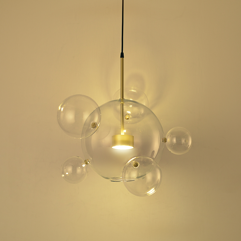 Post Modern Bolle Lamp Led Pendant Light Clear Glass Bubble Ball droplight Fixtures Indoor Lighting Lustre luminaria Hang Lamp m alejandre prada quintet for piano and winds op 51