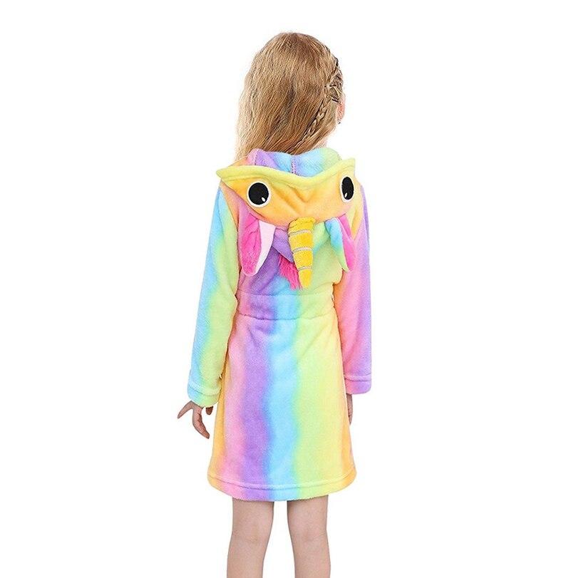 Los niños Toalla de playa Bebé traje de baño Animal unicornio arco iris con capucha albornoces para niños niñas pijamas camisón de dormir de los niños traje