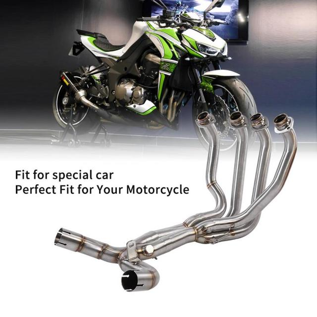Motorcycle Modification Exhaust Vent Front Pipe Link Connect for KAWASAKI Z1000 2010 2011 2012 2013 2014 2015 2016 2017 2018