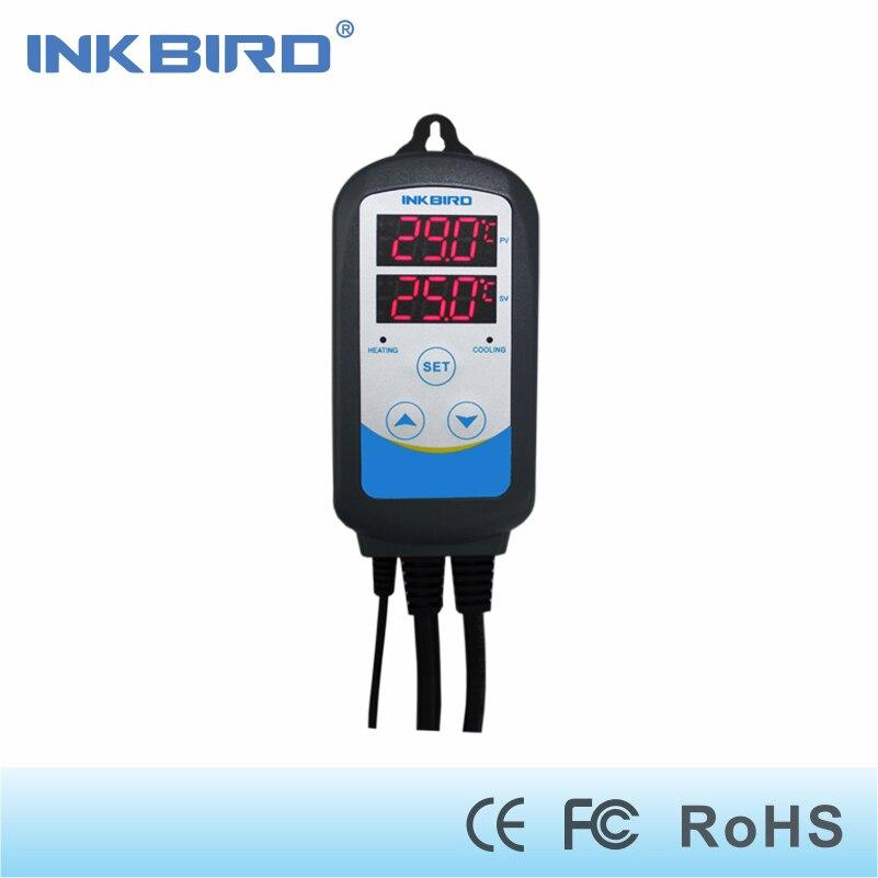 Inkbird ITC-310T Pre-wired Digital Dual Bühne Temperatur Controller Outlet Thermostate mit Timer für Brau Samen Keimung
