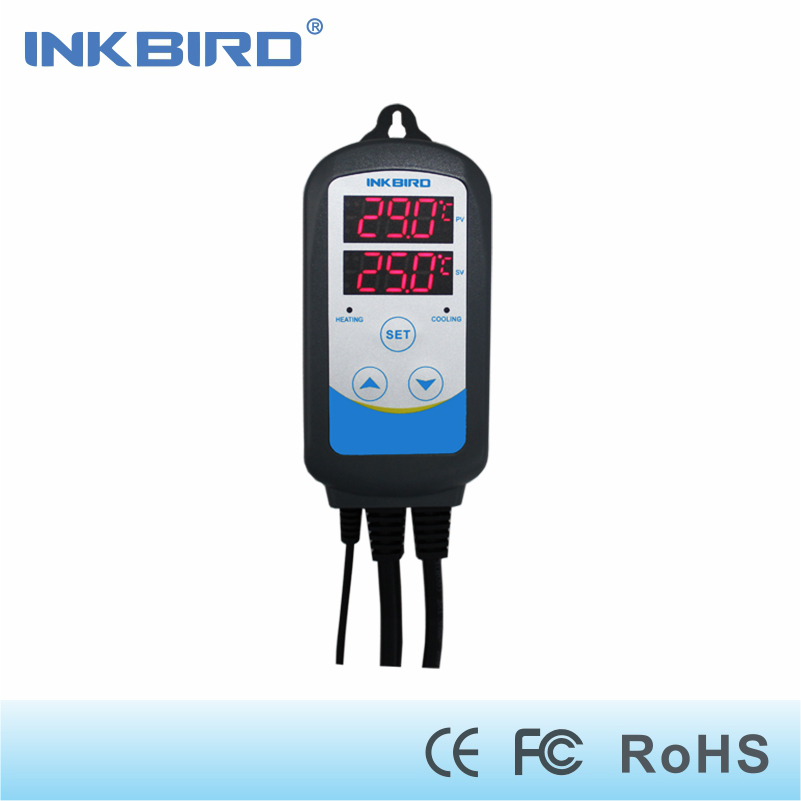 Inkbird ITC-310T Pre-wired Digital Dual Stage Temperature Controller Outlet Thermostats with Timer for Brewing Seed Germination