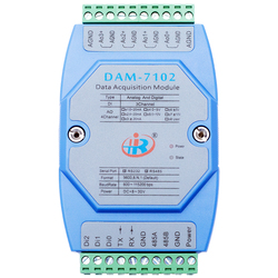 DAM7102 Digital Input Analog Output Voltage and Current Mixing Module RS485RS232Modbus