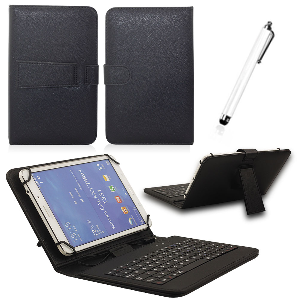 Universal Leather Case With Micro USB Keyboard For 10 10.1 inch Andriod Tablet PC For Lenovo Samsung Asus Tablet Keypad Cover ynmiwei for miix 320 leather case full body protect cover for lenovo ideapad miix 320 10 1 tablet pc keyboard cover case film