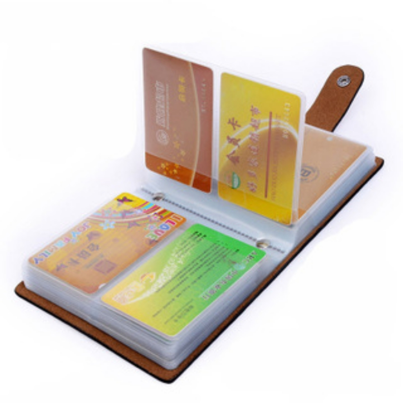 2018 High Quality New Name Card Holder Brand ID Business Card Holder Women &men Leather 60 Bank Credit Cards Case