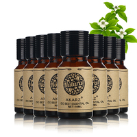 AKARZ Famous brand value meals Clove Neroli Melissa Almond Musk Orange Orchid Honeysuckle essential Oils 10ml*8